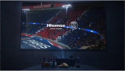 Socio oficial de Hisense, Paris Saint-Germain (PRNewsfoto/Hisense)