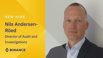 Nils Andersen-Röed joins Binance from Europol to further strengthen investigations and audit team
