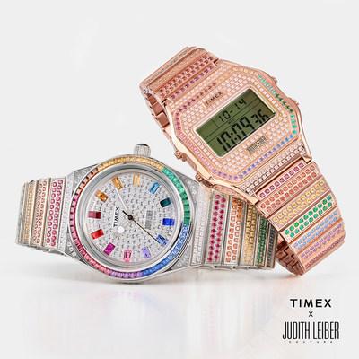 Timex x Judith Leiber: con más de 900cristales Swarovski aplicados a mano, esta vibrante y colorida colaboración trae el brillo de la pasarela a la muñeca.